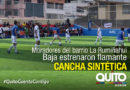 Nueva cancha sintética se entregó a los moradores de la Rumiñahui Baja