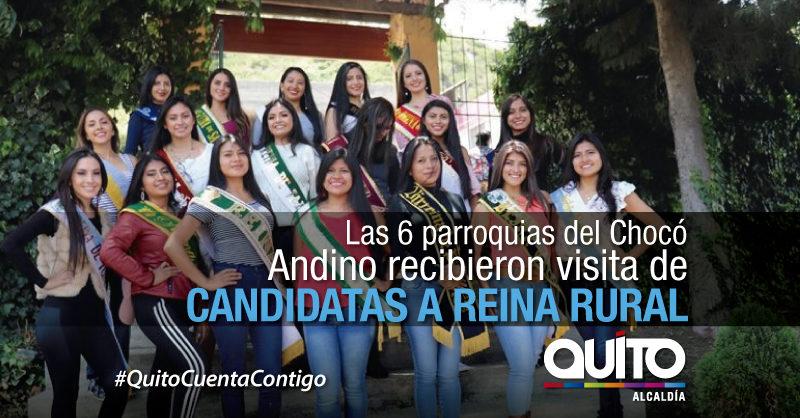 Candidatas a Reina Rural recorren parroquias del Chocó Andino