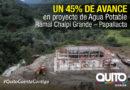 La construcción del proyecto Chalpi Grande – Papallacta registra un 45%