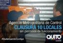 10 locales clausurados por la AMC por no contar con la LUAE