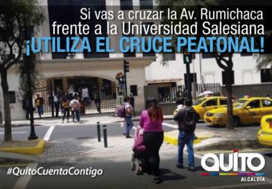 Nuevo cruce semaforizado para peatones en avenida Rumichaca