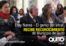 Municipio entrega reconocimiento al insigne muralista Eloy Narea