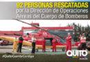 Operaciones aéreas de Bomberos Quito salvan 92 vidas
