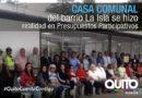 Moradores del barrio La Isla cuentan con flamante Casa Comunal
