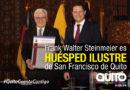 Alcalde de Quito declaró Huésped Ilustre de la Ciudad al Presidente de la República Federal de Alemania