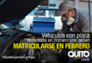 Está en marcha la matriculación vehicular bajo calendarización