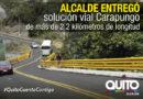 La vía Carapungo beneficia a más de 50 mil habitantes de Llano Chico y Llano Grande
