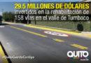186 km de nuevas vías para Tumbaco