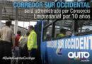 Municipio firmó contrato de operación con el consorcio corredor sur occidental