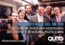 Empresarios de la ciudad y directores municipales viajaron en el Metro de Quito