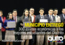Ayudas económicas benefician a 300 estudiantes municipales sobresalientes