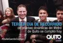 Continúan los recorridos de pruebas  en el Metro de Quito
