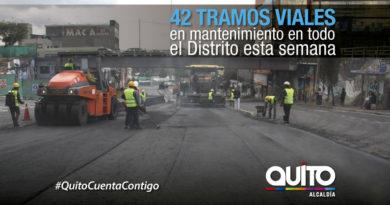 23 sectores a mantenimiento vial del 11 al 17 de marzo