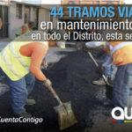24 sectores a mantenimiento vial del 18 al 24 de marzo