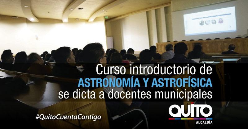 Docentes municipales se capacitan  en Astronomía y Astrofísica
