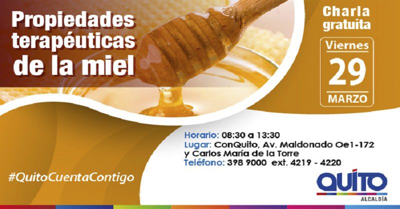 Se dictará la charla propiedades terapéuticas de la miel