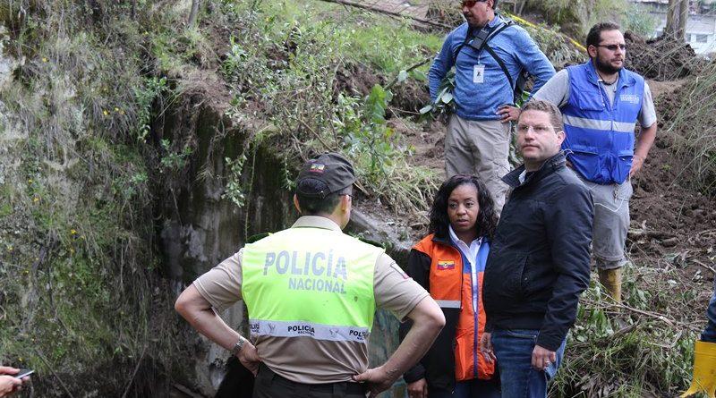 Informe de Bomberos Quito determina que aluvión en el Pinar fue por un fenómeno natural