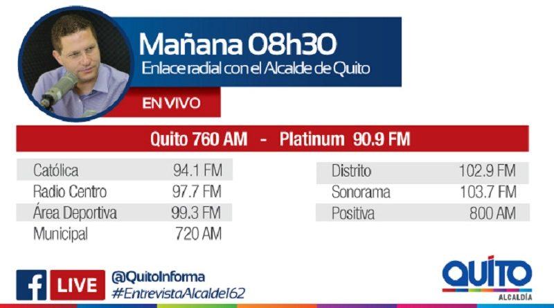 Este miércoles 20 de marzo las radios de la Capital entrevistan al alcalde Mauricio Rodas