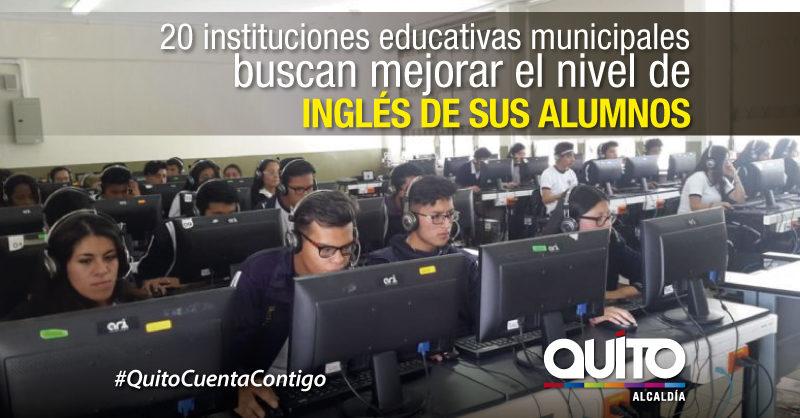 Estudiantes municipales evaluaron su nivel de Inglés