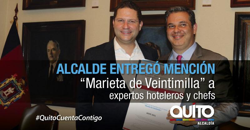 """Expertos hotelerosy chefs recibieron la Mención """"Marieta de Veintimilla"""""""