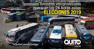 Operativo en terminales interprovinciales durante comicios seccionales