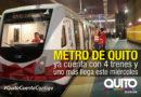 Dos nuevos trenes del Metro llegan a Quito