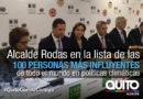 Alcalde Rodas entre las personas más influyentes del mundo en políticas climáticas