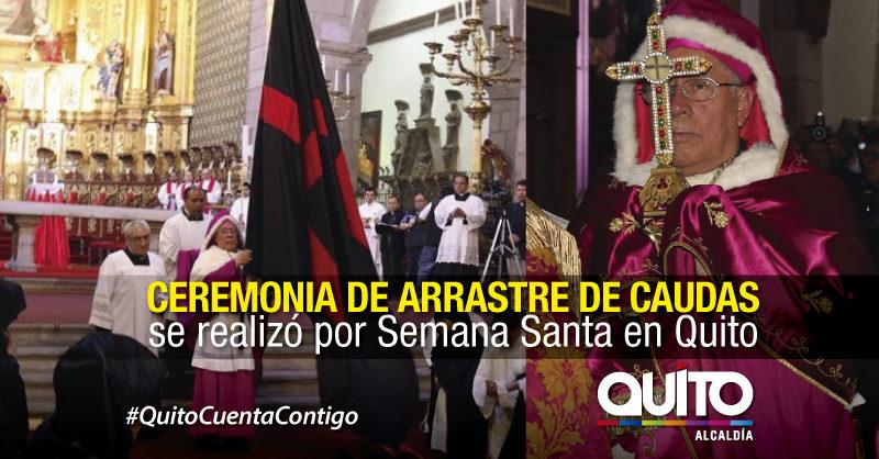Quito es la única ciudad del mundo donde realiza el ´Arrastre de Caudas´