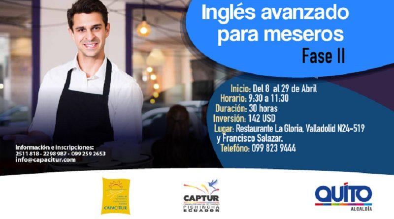 Capacitur Dictara Dos Cursos De Ingles Basico Para Meseros Y Hosteleria Quito Informa