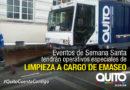 Operativo especial realizará EMASEO el Domingo de Ramos