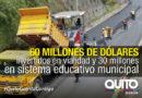 Obras en educación y vialidad no se detienen