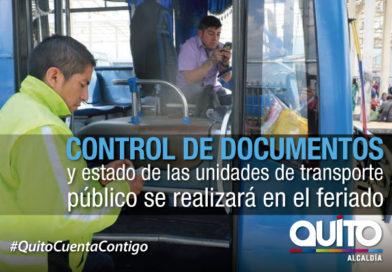 Municipio implementa operativos de fiscalización del transporte público en feriado de Semana Santa