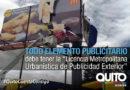 Municipio retira vallas de publicidad colocadas sin permiso en el DMQ