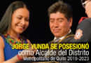 Teatro repleto apoyó a Jorge Yunda en su posesión como Alcalde