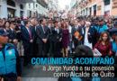 Alcalde Yunda llegó a su posesión con cientos de ciudadanos