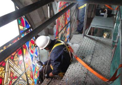 Concluyó la restauración de vitrales de la Basílica del Voto Nacional