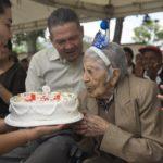 Cumpleaños 105 de 'Mamita Zoila' se celebró en el Hogar de Vida 1