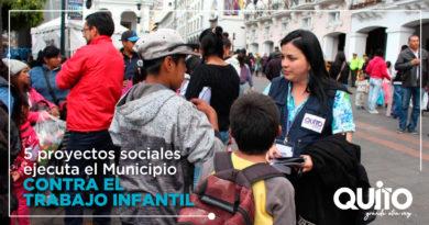 Municipio de Quito ejecuta proyectos sociales contra el trabajo infantil