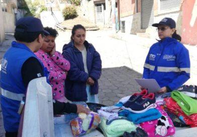 Cuatro familias afectadas por incendios recibieron ayuda humanitaria