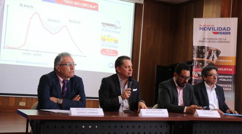 El 'Hoy no Circula' disminuyó el tiempo de traslado en las calles de Quito