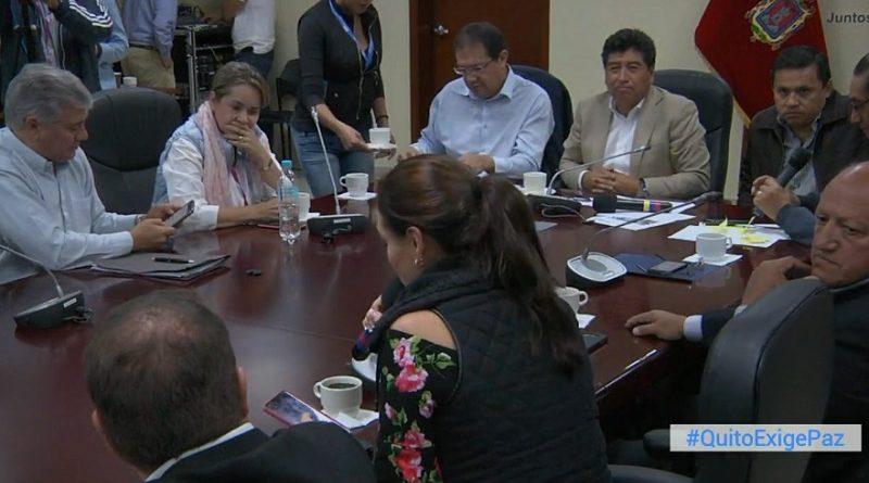 Municipio de Quito hace un llamado al diálogo y a la paz