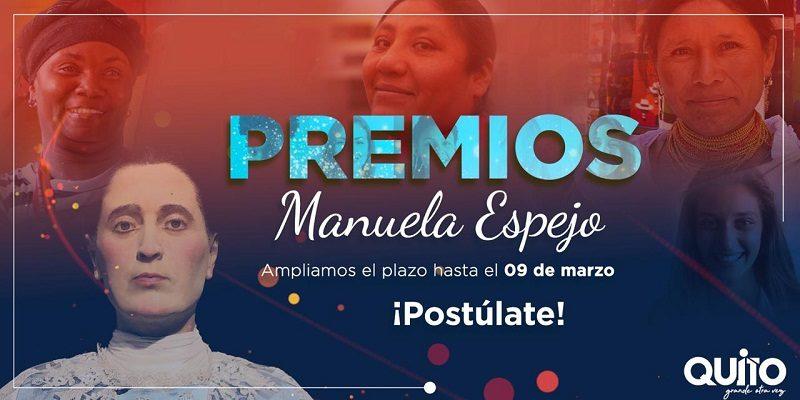 AMPLIACIÓN PLAZO PREMIO MANUELA ESPEJO