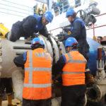 Trabajos de agua potable en estación La Moca avanzan según lo planificado