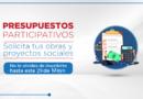 El 29 de mayo: plazo para solicitud de obras de Presupuesto Participativo