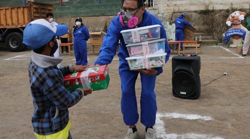 Entregas kits infantiles Yaruquí