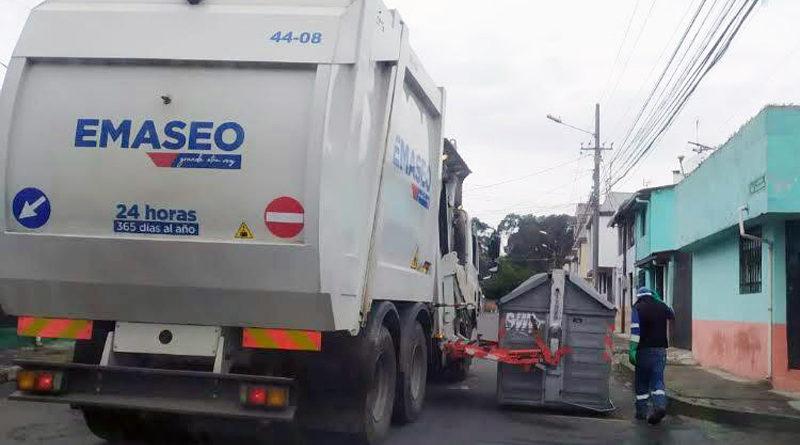 Residuos sólidos recogidos en Quito