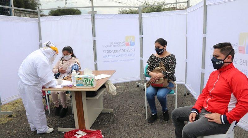 Atención pacientes de covid en estaciones de salud municipal
