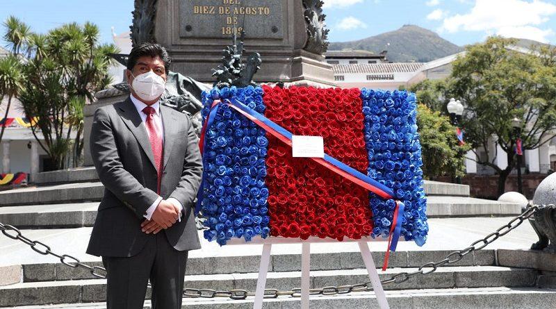 Municipio de Quito rindió homenaje a los héroes del 10 de agosto de 1809