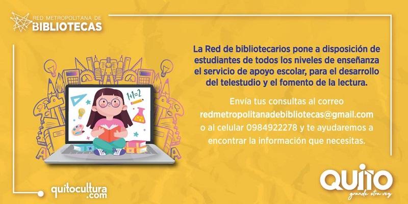 La Red Metropolitana de Bibliotecas brinda servicio de apoyo escolar y fomento a la lectura