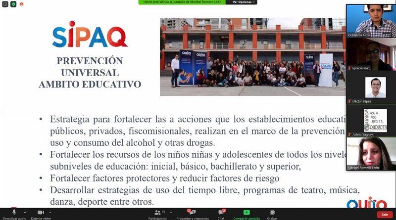 Seminario Internacional Consumo Problemático de drogas licitas e ilícitas, retos para Latinoamérica